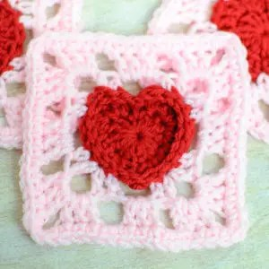 Heart Granny Square by Petals to Picots