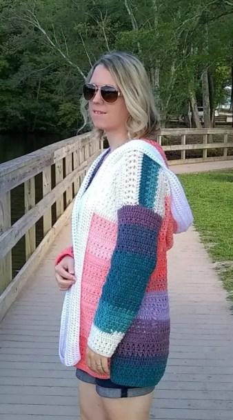 Colorblock Cardigan by Croyden Crochet