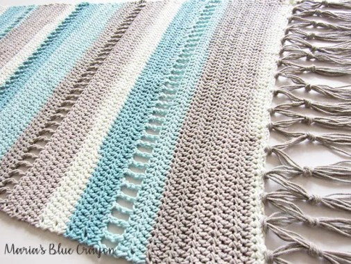 Coastal Indoor Rug by Maria's Blue Crayon featuring Caron Cotton Cakes