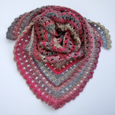 Candy Kisses Triangle Scarf Free Crochet Pattern Complete Video Tutorial