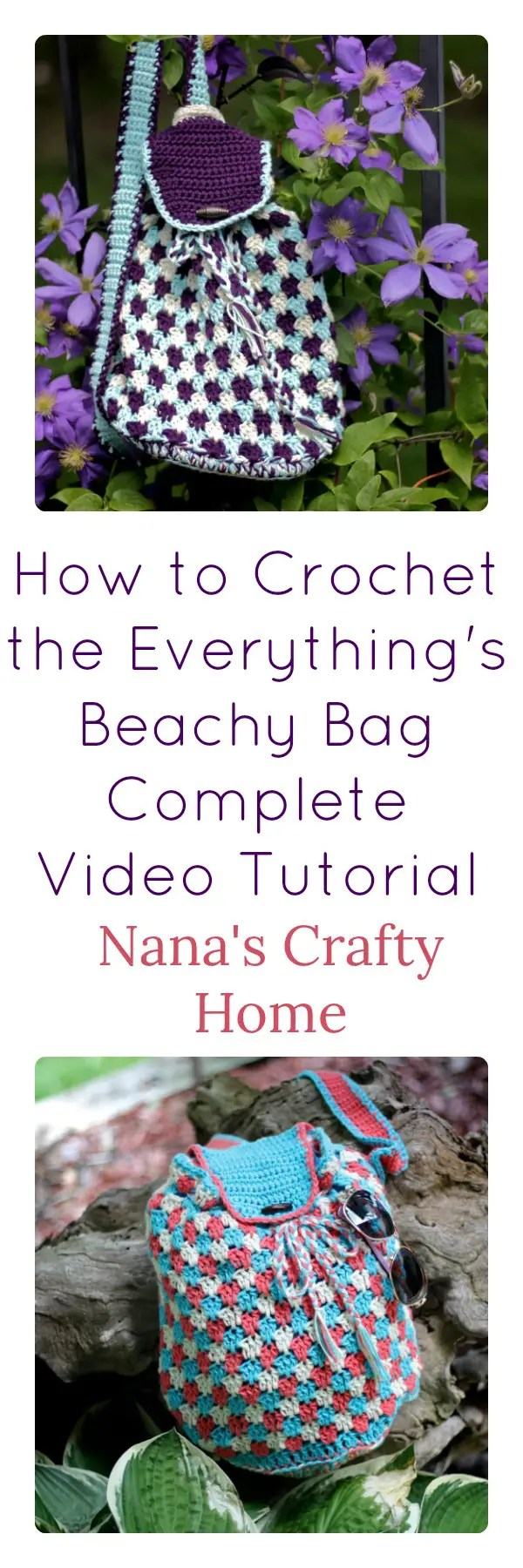 How to Crochet the Everything\'s Beachy Bag Video Tutorial a free pattern