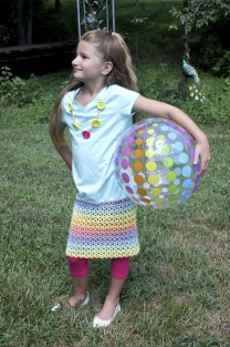 Pretty Play Date Dress Free Crochet Pattern featuring Caron Cotton Cakes