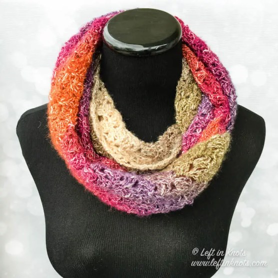 Eventide Infinity Scarf is a free crochet pattern by Left in Knots