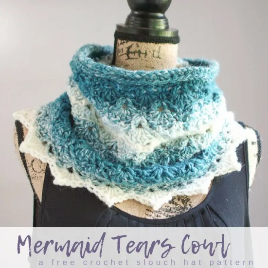 Mermaid Tears Cowl by Salty Pearl Crochet