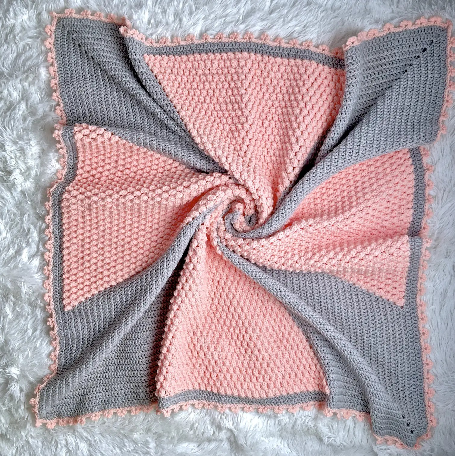 Cross My Heart Baby Blanket Free Crochet Pattern - Nana's ...