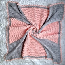 Cross My Heart Baby Blanket free crochet pattern