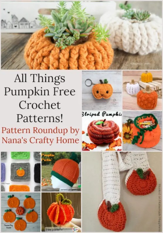77fe334ea Pumpkin Crochet Patterns All Free! - Nana s Crafty Home