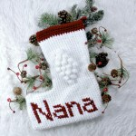 Christmas Blessings Crochet Stocking Free Pattern