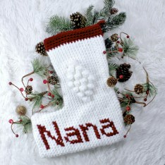 Christmas Blessings Stocking a free crochet pattern