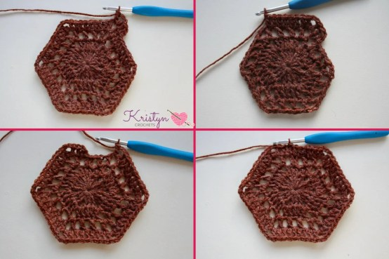 Hexagon Medley Wrap a free crochet pattern