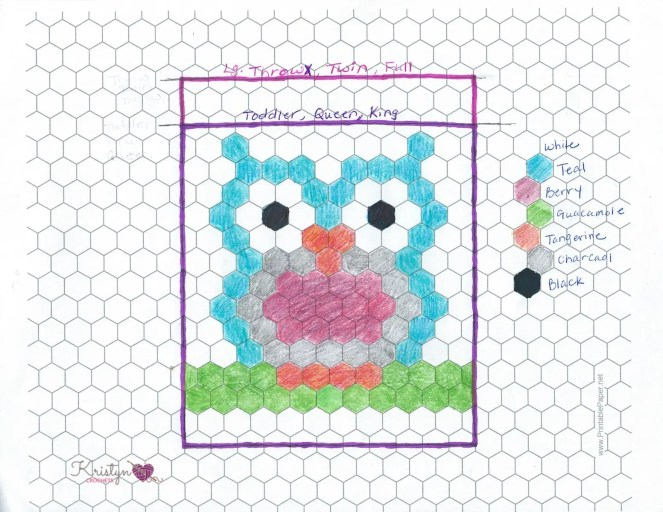 Night Owl Hexagon Blanket a free crochet pattern