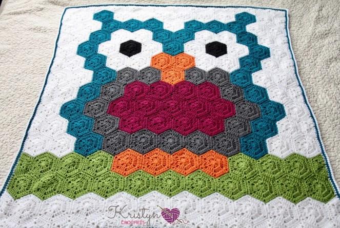 Night Owl Blanket Free Crochet Pattern