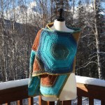 Hexagon Medley Crochet Wrap a free pattern by Kristyn Crochets