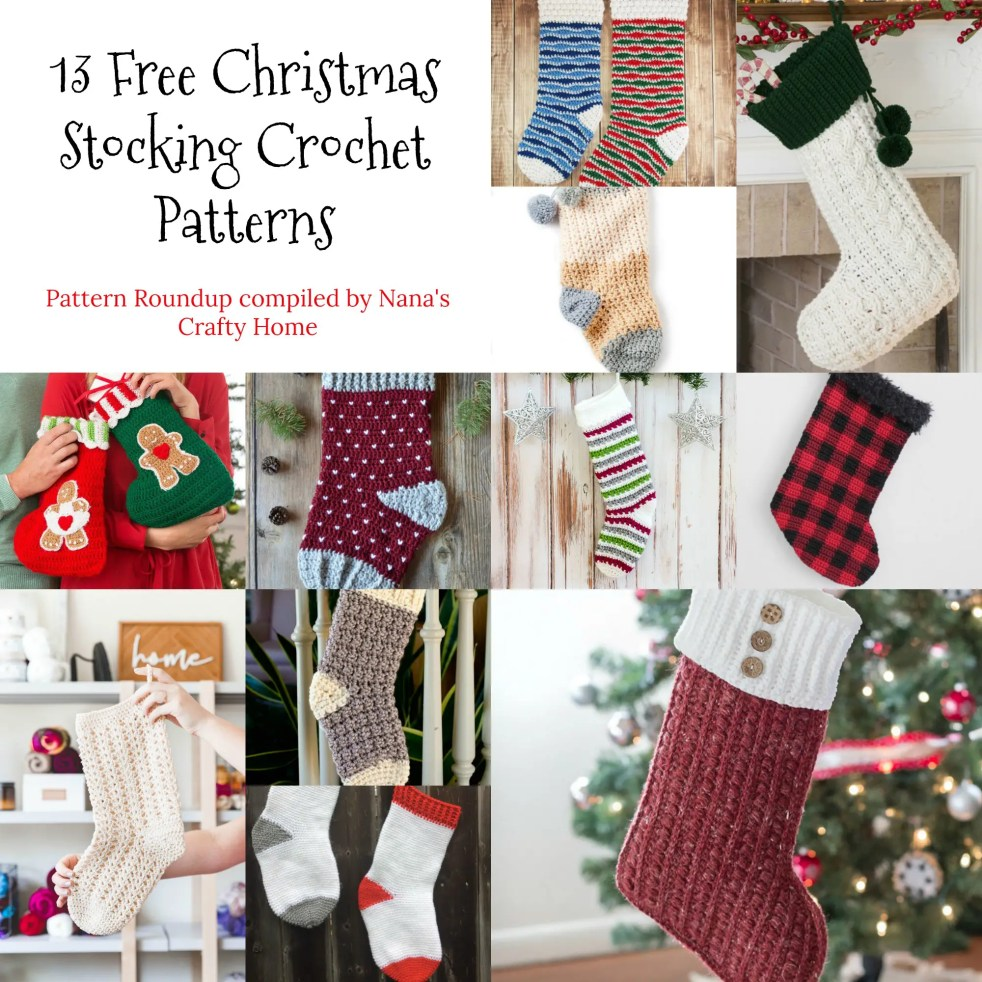 Christmas Stocking Free Crochet Pattern Roundup