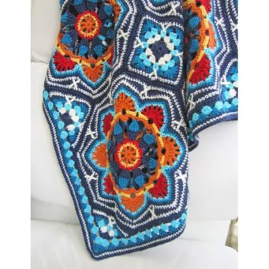 Persian Tile Blanket pattern by Janie Crowfoot