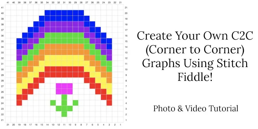 Create Your Own C2C (Corner to Corner) Graphs using Stitch Fiddle Photo & Video Tutorial