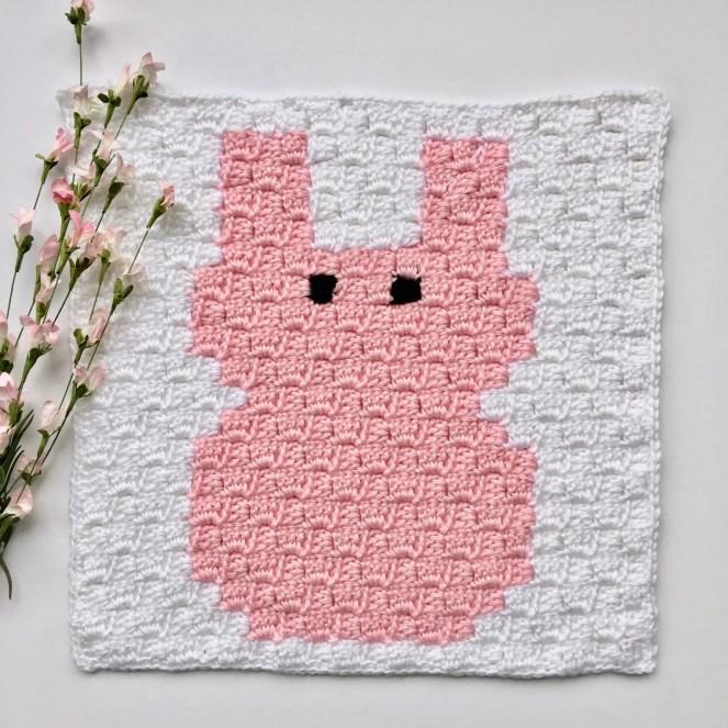 Bunny C2C Square Easter Blanket Graphgan CAL Part 8