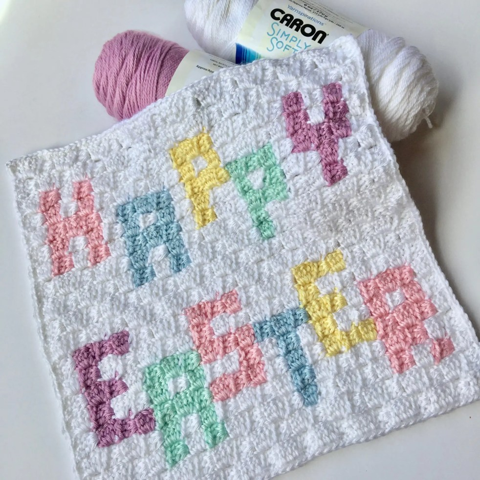 Happy Easter C2C Square Easter Blanket Graphgan CAL Part 5
