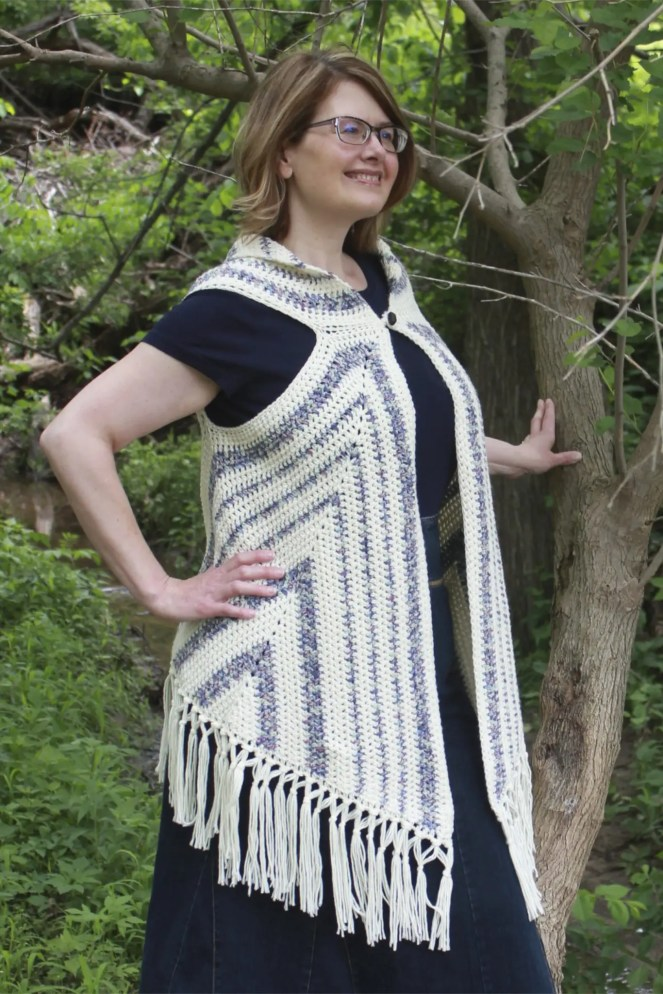 Boho Vest Triangle Trio Free Crochet Pattern Nanas Crafty Home