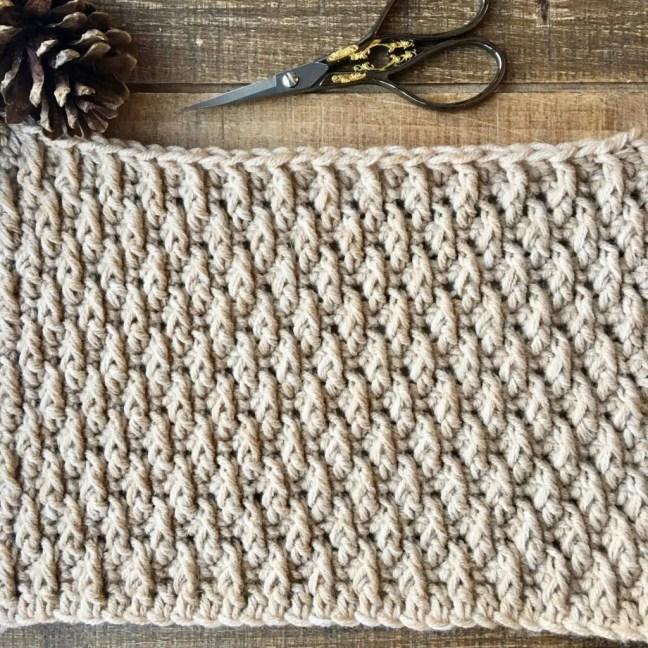 Learn to crochet the Alpine Stitch Tutorial