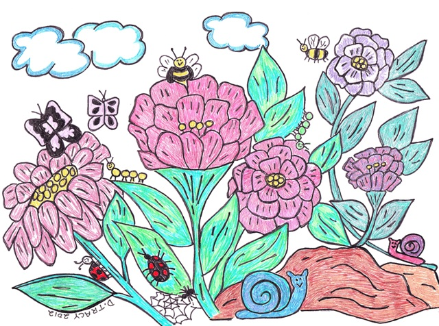 bees-pink-flowers-2012