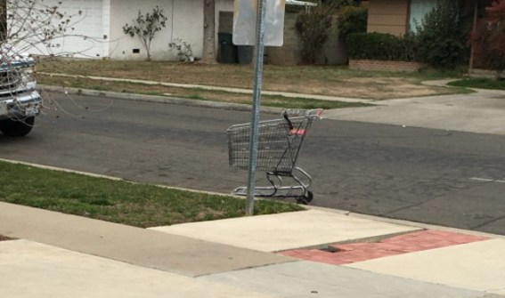 cart on curb
