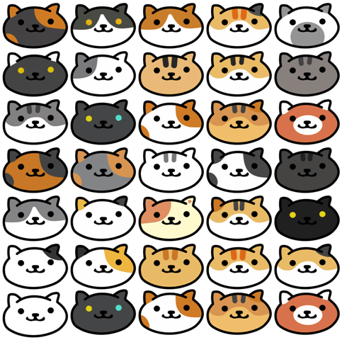 neko faces small