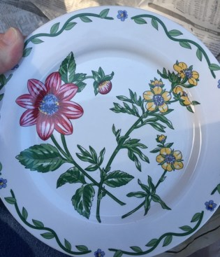 flowered plate