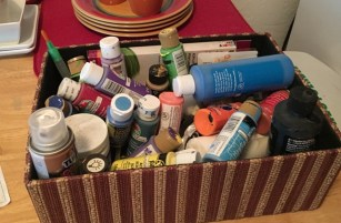 basket of paints