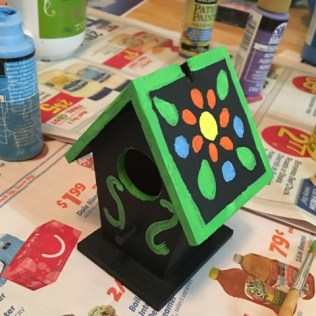 birdhouse started