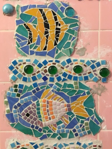 fish with grout