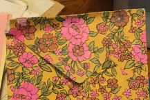 flowered envelope