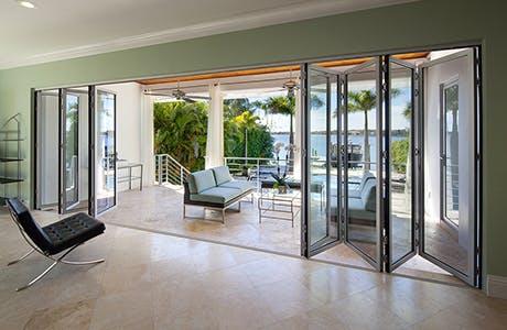 folding glass patio doors nanawall