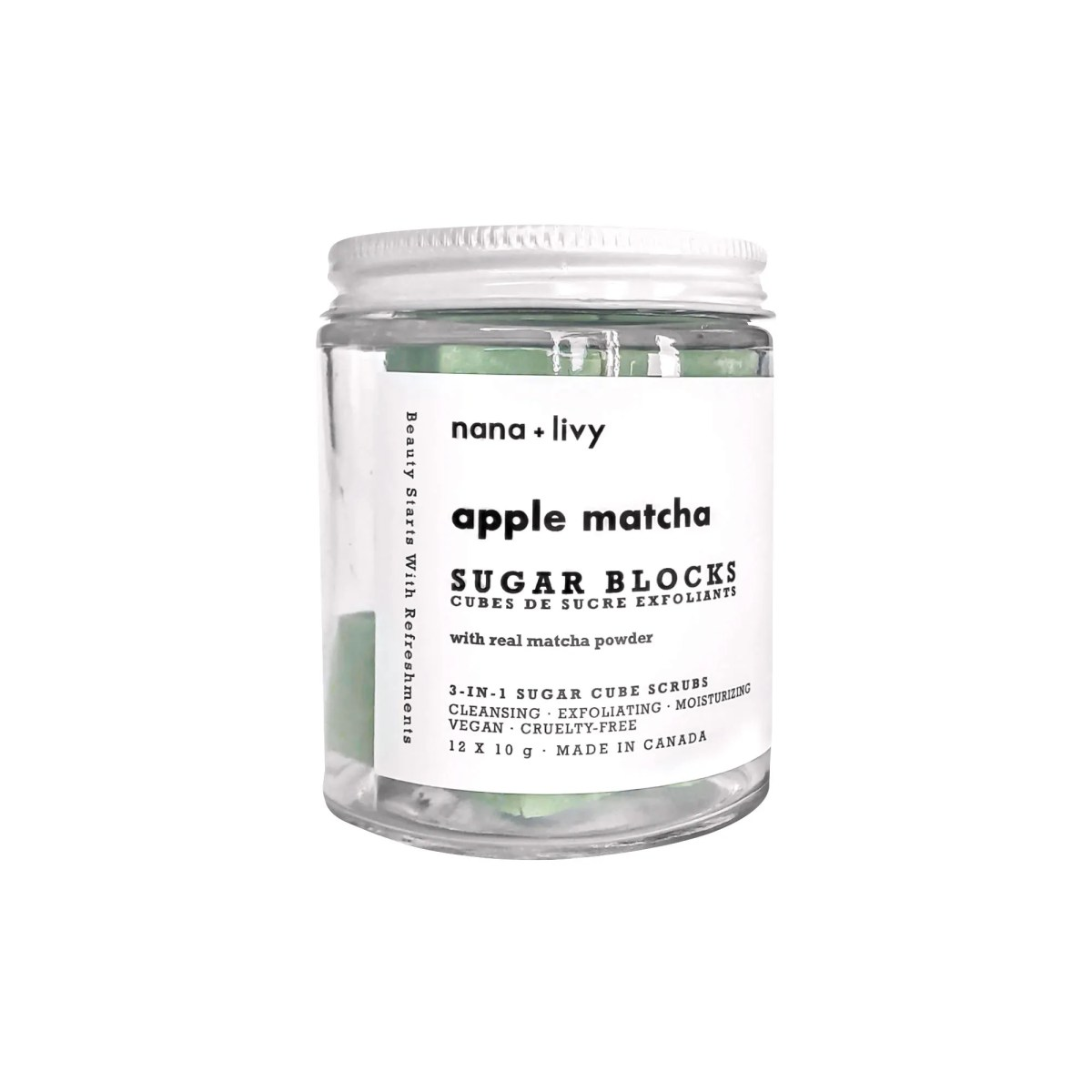 Apple Matcha Sugar Block