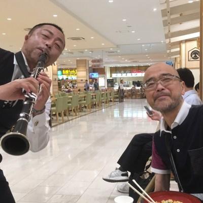 ゆめタウン久留米にてCozy-Ashさんのクラリネット演奏を楽しむ