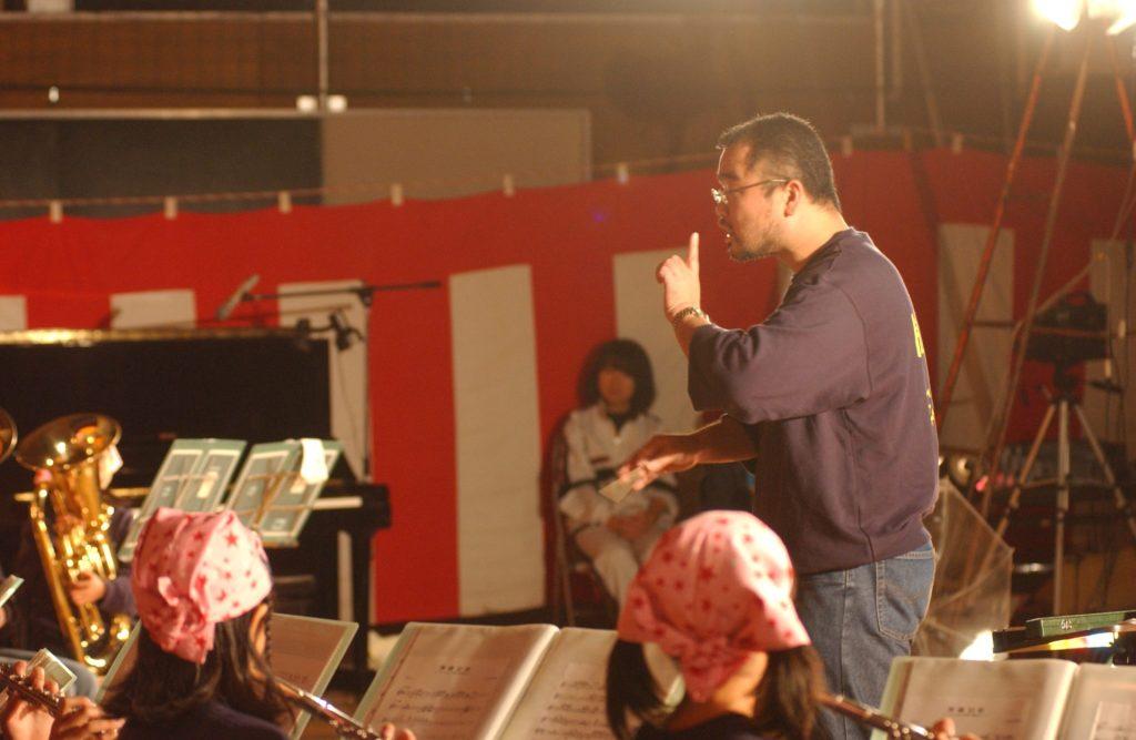 学芸会にて吹奏楽発表