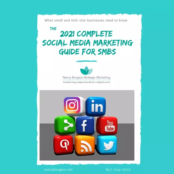 What small and mid-size businesses need to know The Complete Social Media Marketing Guide for SMBs with social media icons