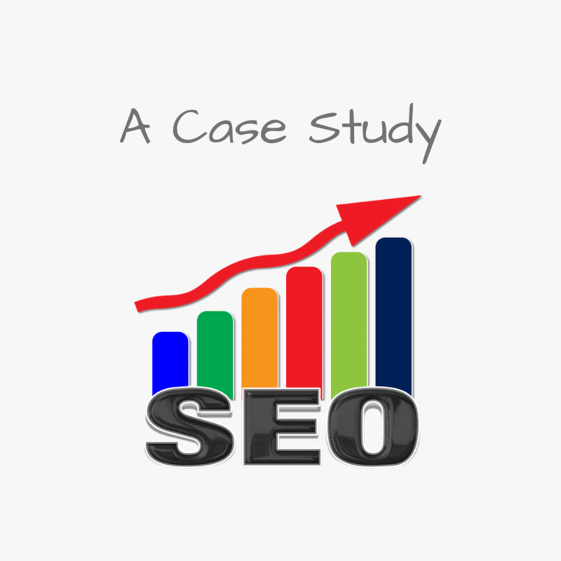 a case study SEO bar graph with increasing numbers