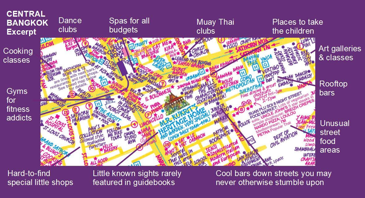 Detailed Map Of Bangkok By Nancy Chandler