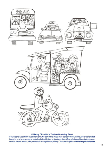 Nancy Chandler's Thailand Coloring Book Digital Edition