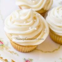 Frosty Vanilla Cupcakes
