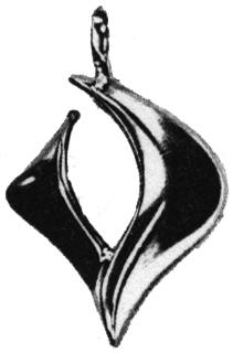 sterling silver descending dove pendant Nancy Denmark symbol design
