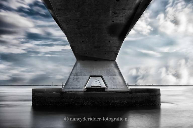 zwart/wit fotografie, zeeland,zeelandbrug