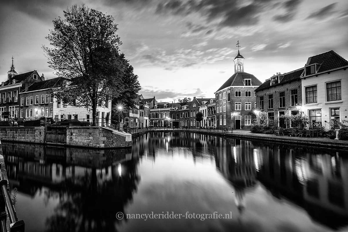 Zwart/wit foto's, Schiedam, zakkendragershuisje