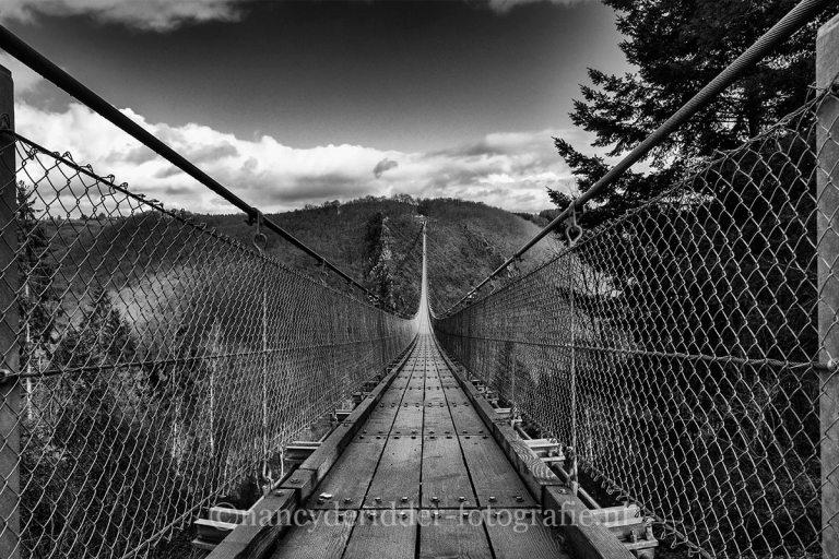 zwart/wit fotografie, steiger, rotterdam. geierlay, hangbrug, duitsland