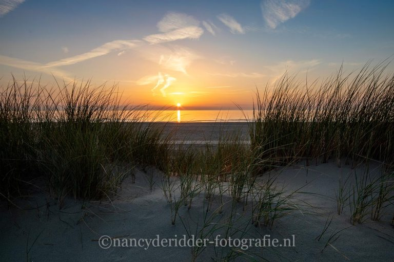 zonsondergang, sunset, Kijkduin, strand