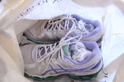 stuff socks into sneakers and put dirty shoes in plastic bags to protect clothing