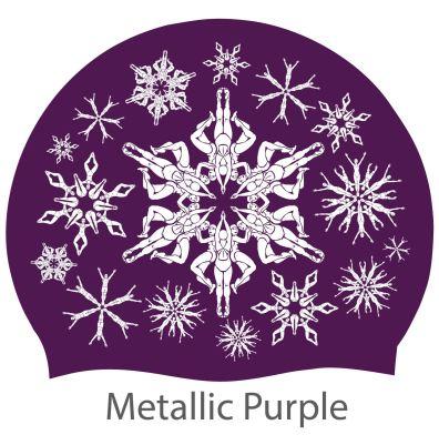'Swimflakes' hat, purple
