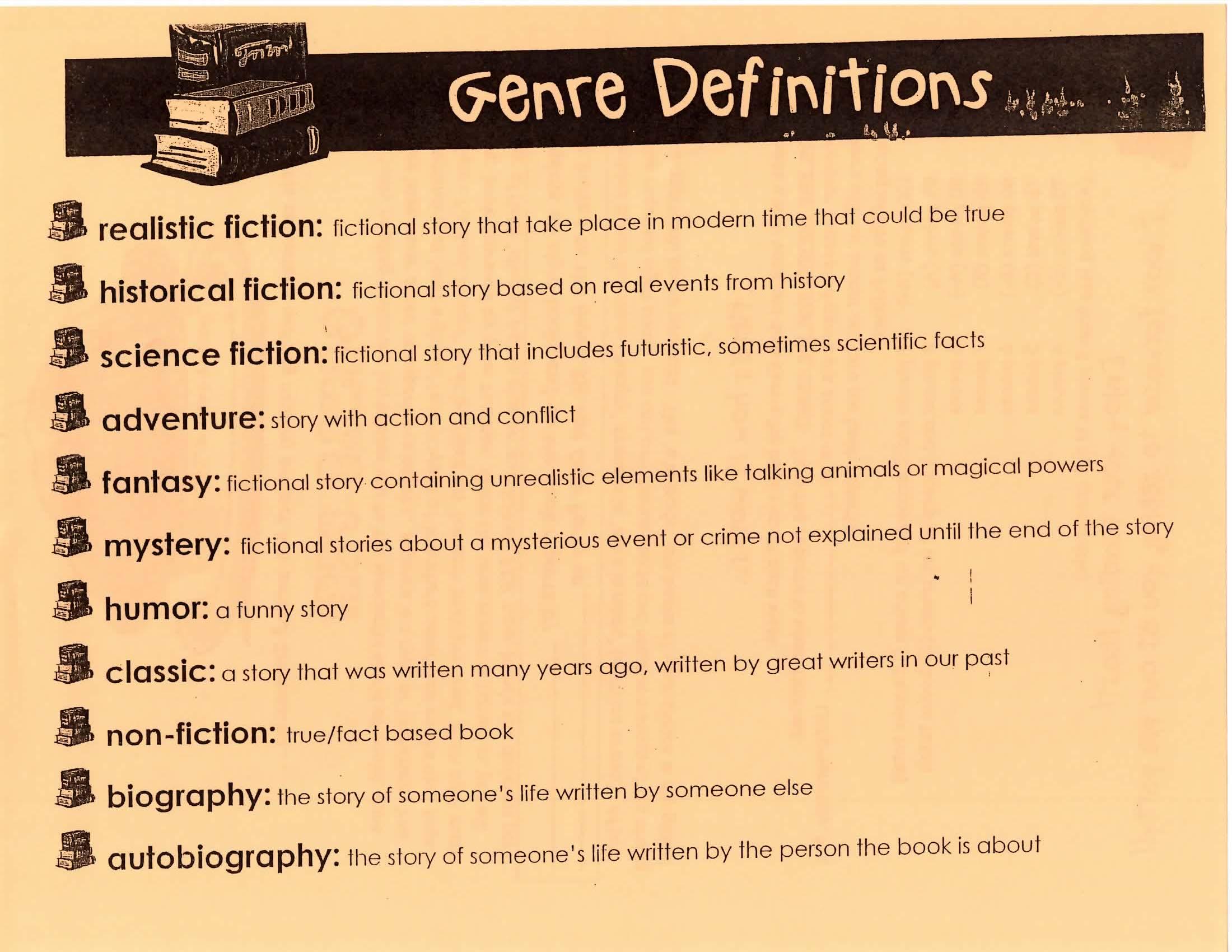 5th Grade Battle Of The Books Genre Pie And More