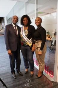 Pierre Kompany, Cécile Edungu et Nancy Kawaya